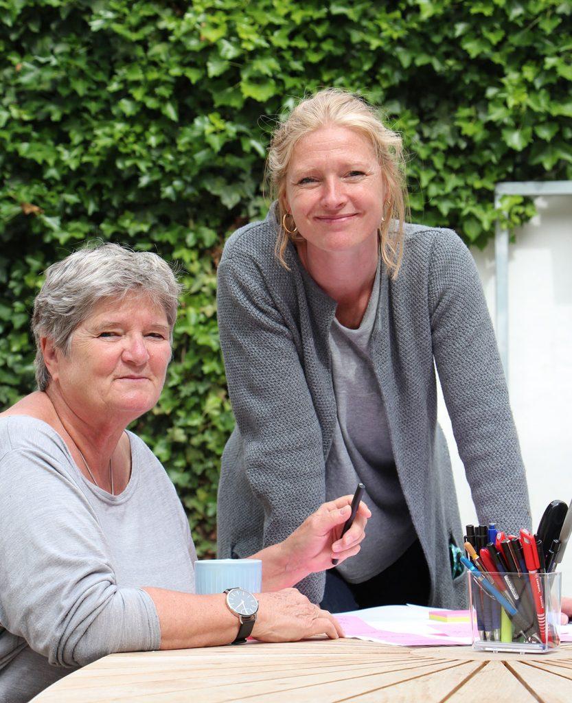 Julie og Hanne - partnere i Projekthuset Aron